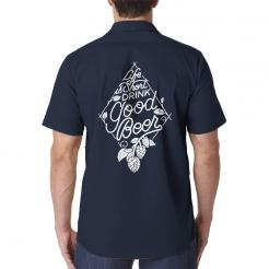 Life is Short Drink Good Beer Brewery Brewer Work Shirt