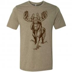 Beer drinking New Hampshire moose funny craft beer graphic tee.