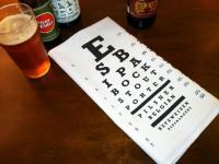 Beer Eye Chart Bar Towel