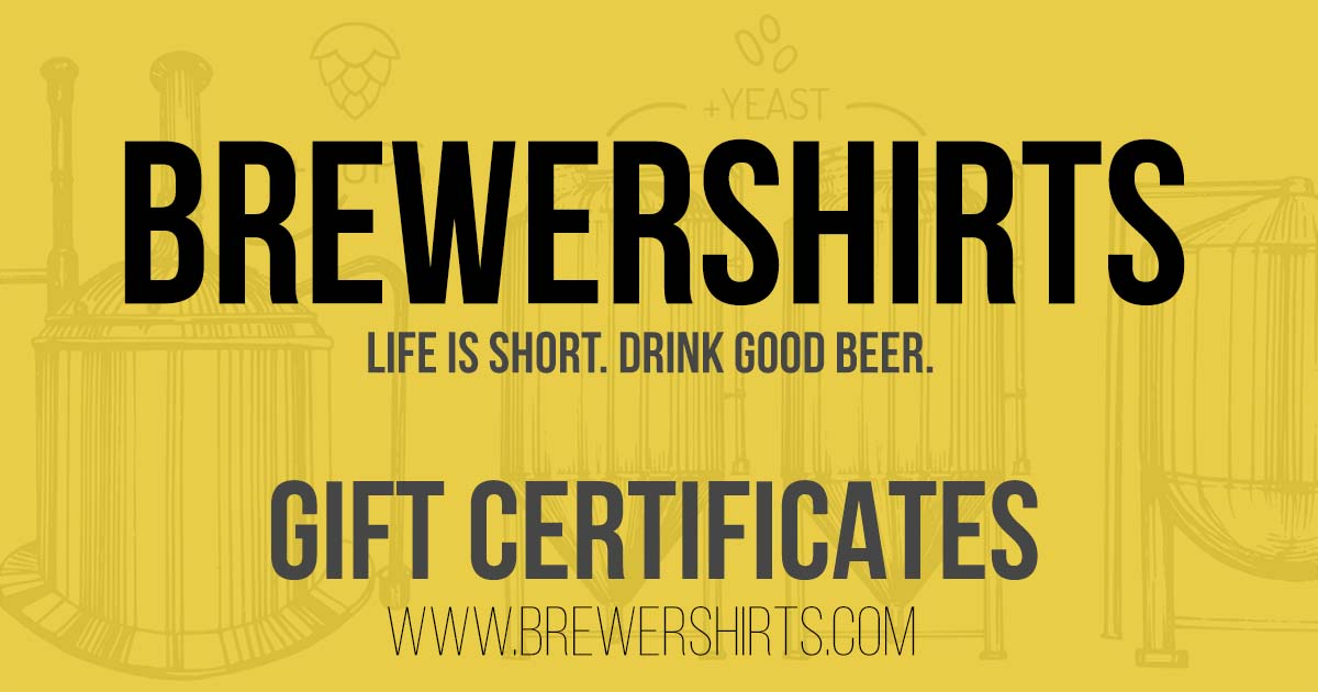 Hundreds of great gift ideas for beer geeks.  Give a BrewerShirts.com gift certificate.